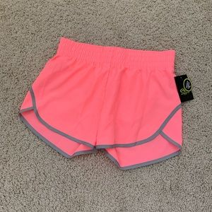 """""""ATHLETIC WORKS"""" Coral w/gray workout sports short"""
